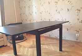 Раздвижной стол, коричнево-чёрный бьюрста Икеа