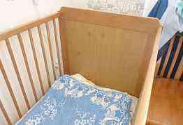 Детская кроватка Скудвик (Икеа) + матрас