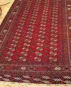 Туркменский шерстяной ковер ручной работы