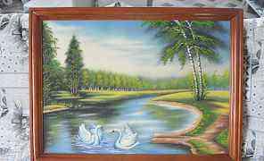 Картина большая (рисунок высыпан мраморной крошкой