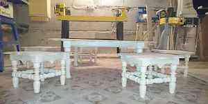 Национальный казахский столик со стульями