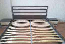 Кровать Ницца с матрасом Askona, плюс две тумбочки