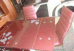 Стекляный стол раскладной