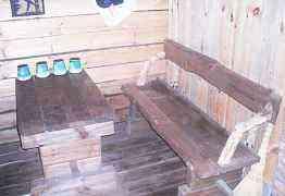 Стол и лавочка для бани