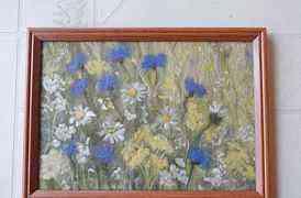 Картина из шерсти ручной работы