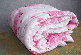 Теплое 2-х спальное одеяло, холлофайбер