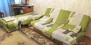 Диван, диван-кровать, кресло, пуфик. набор мебели