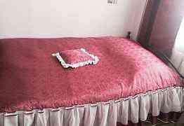 Новое покрывало, портьеры, подушка