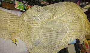 Кусок шторной ткани органзы