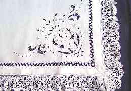 Салфетка на подушку скатерть 64x67 ришелье Россия