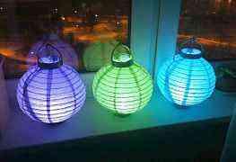 Бумажные светящиеся китайские фонарики
