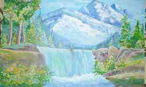 Картина классный горный пейзаж