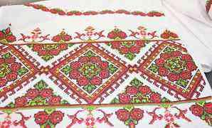 Свадебный рушник, вышивка крестом