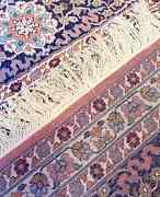 Индийский шелковый ковер ручной работы