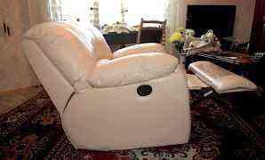 Кресло кожаное с механизмом Релакс