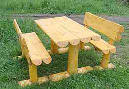 Стол и лавочки