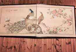 Ширма японская (ручная роспись на шелке). Восток