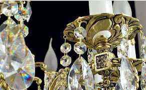 Бронзовая чешская люстра 12 ламп