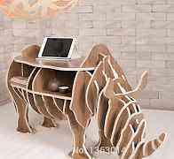 Журнальный столик в виде носорога из фанеры