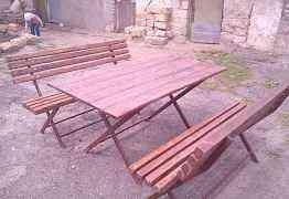 Лавки и стол