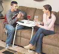 Складной столик для еды перед TV, ноутбука и т. д
