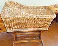 Мебель из лозы, плетеная люлька