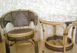 Комплект мебели из ротанга (стол и 4 кресла)
