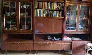 Мебельная стенка с антресолью