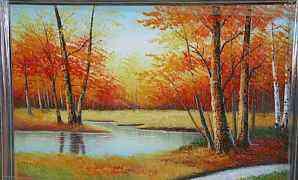 Картина маслом на холсте 90х60 см