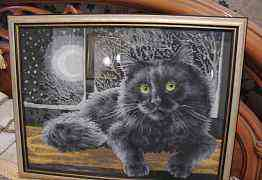 "картина ""Кошка под луной"""