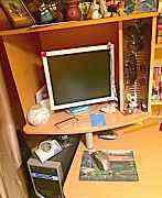 Стол компьютерный с ящиками и полками
