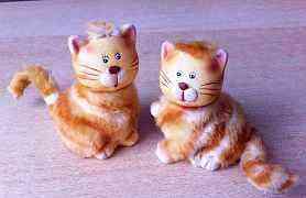 Пара котиков керамических