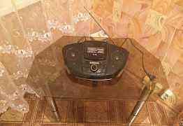 Стеклянная тумба под аудио и видео