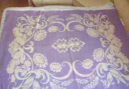 Одеяло Фиолетовое шерсть. Полуторное СССР