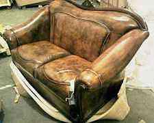 Диван и кресло (обивка - натуральная кожа)