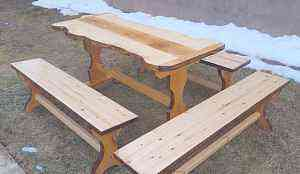 Набор мебели из массива (для веранды, беседки)