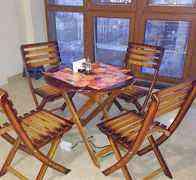Новый комплект деревянной мебели для сада - дачи