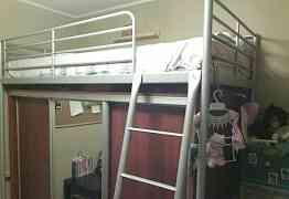 Шкаф-купе вместе с кроватью